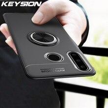Keysion caso de telefone para huawei honor 10i caso anel magnético suporte silicone macio tpu capa traseira para honra 20i honra 10 i funda