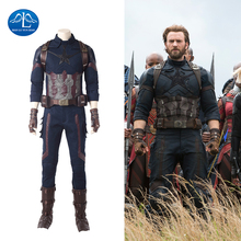 Manluyunxiao Captain America Cosplay Marvel Avengers Infinity War Halloween Costumes for Men Adult Superhero Steve Rogers Outfit