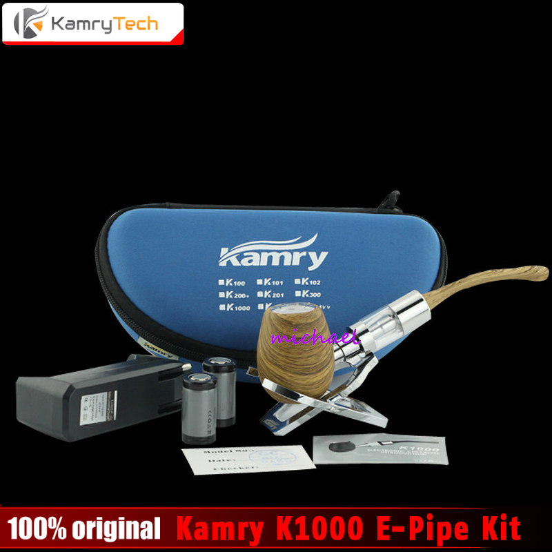 100% Original Kamry K1000 E-Pipe kit 18350 Battery K1000 Atomizer e Pipe Mod Wooden Free Shipping zyxel es1100 24e