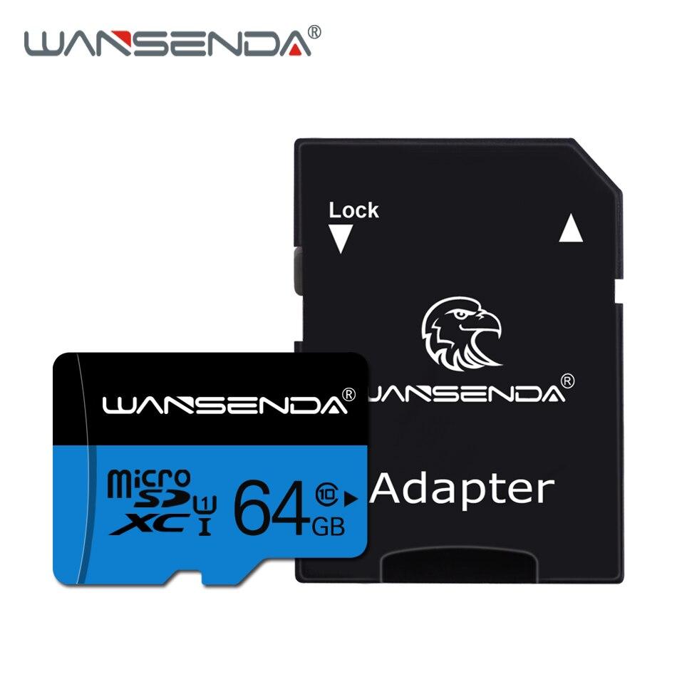 Carte Micro SD Wansenda de haute qualité 4GB 8GB 16GB 32GB 64GB 128GB carte mémoire TF carte adaptateur SD gratuit au détail