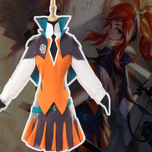 Game LOL Cosplay Costumes The Lady Of Luminosity Luxanna Crownguard Costume Halloween Party Anime