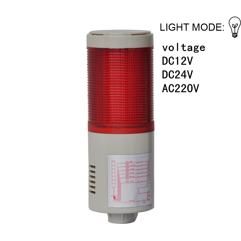 LTA-205-1 one layer Multilayer warning beacon indicator Machine light factory price tower light alarm light buzzer