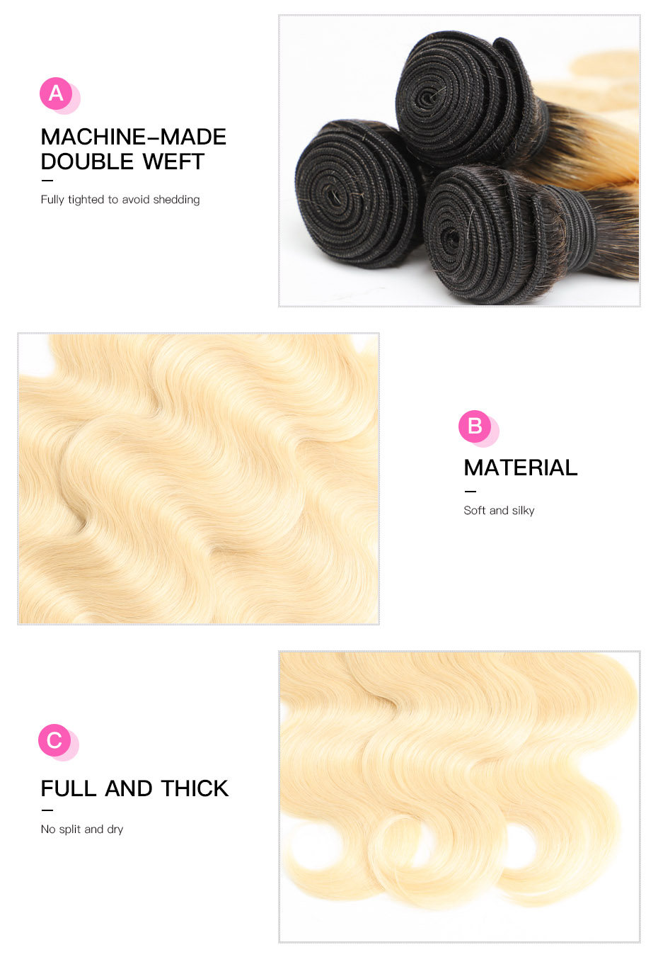 HTB1kCqrXZvrK1Rjy0Feq6ATmVXa5 Facebeauty Brazilian Human Hair 2 Tone Dark Roots Ombre Blonde Hair 3 Bundles With Lace Closure 1B/613 Body Wave Color Hair Weft