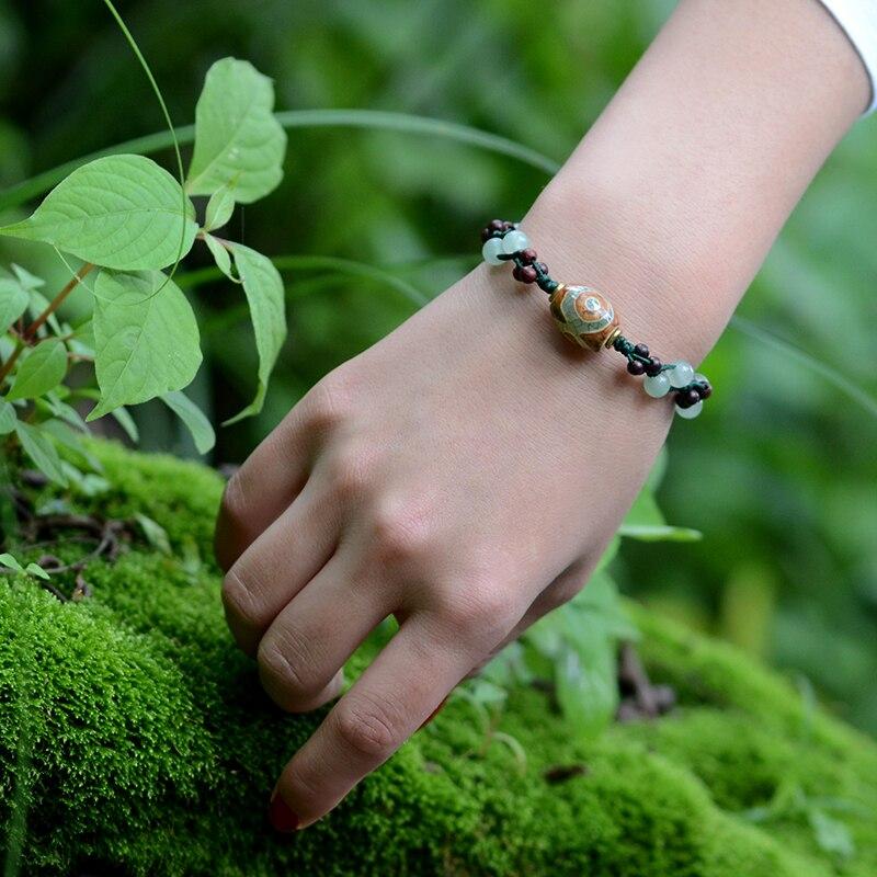 2019 moda vintage wisiorek koraliki Dzi Awenturyn i kamień naturalny - Modna biżuteria - Zdjęcie 5