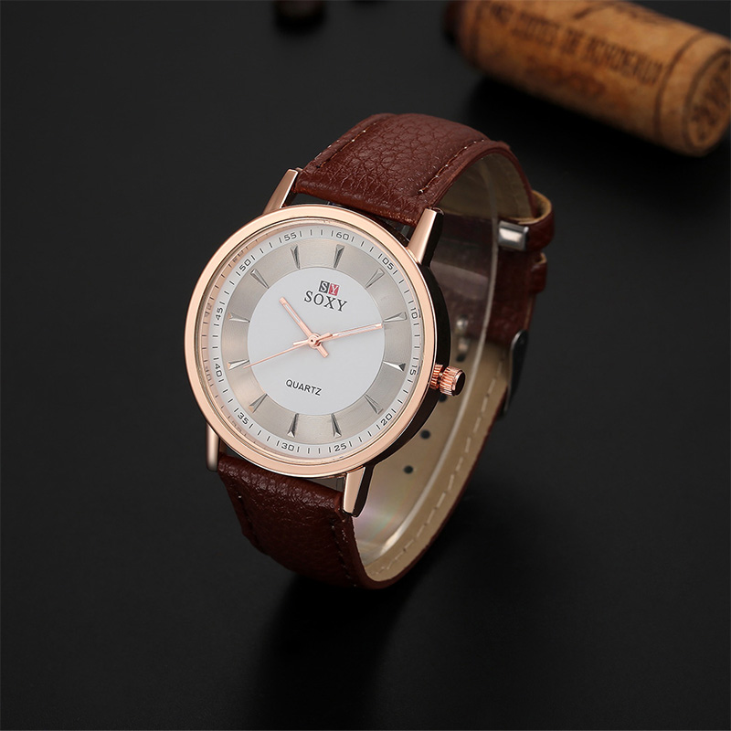 Stylish Optimum Hour Clock SOXY Brand Watch Women Fashion Luxury Gold Quartz Watch Leather Band Ladies Watch relogio feminino