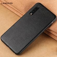 Natural Leather case For xiaomi Mi 9 9T PRO SE 8 LITE f1 A3 a2 cover redmi Note K20 7 note 7A 5 Plus 4x Luxury