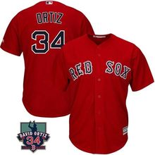 6f5897367 MLB Men's Boston Red Sox Roger Clemens David Ortiz Retirement Patch Jerseys  4 colors(China