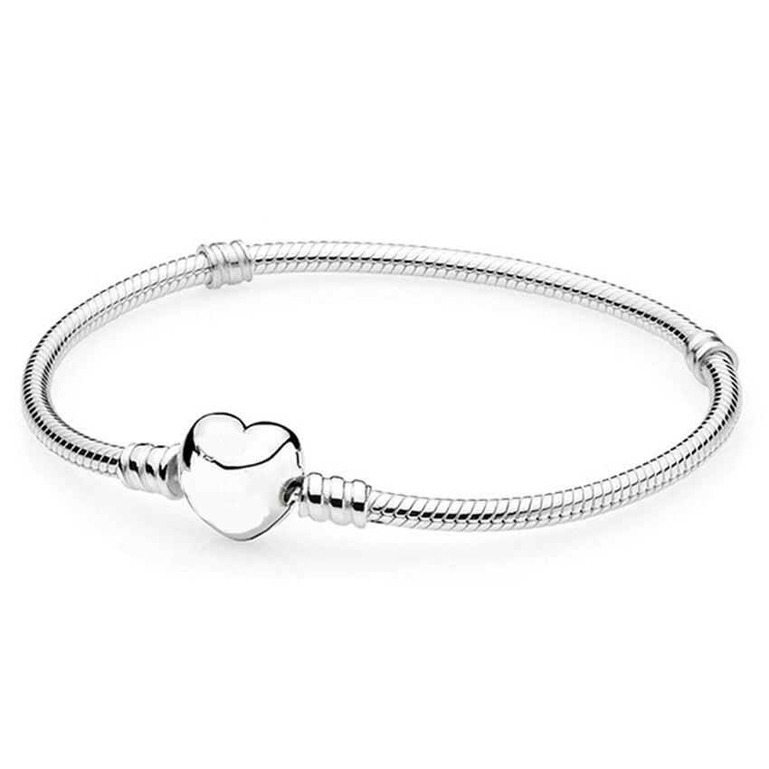 MaHeu Women Love Heart Bracelet Bangle Beads Charms Jewelry