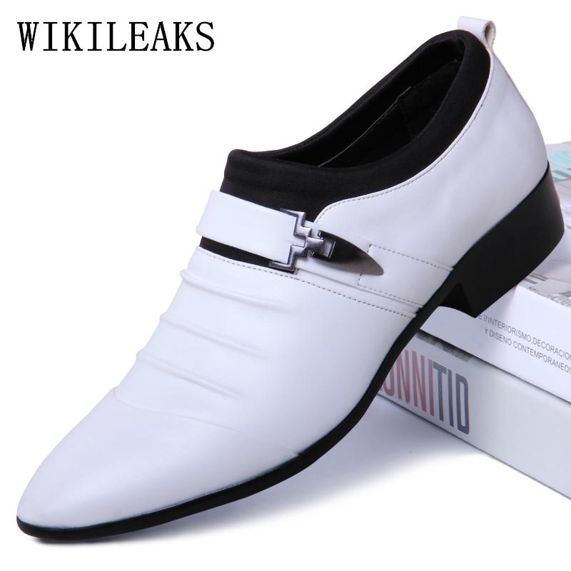 Menunjuk Toe Sepatu Formal Pria Pernikahan Oxford Sepatu untuk Pria Sepatu  2019 Pria Oxfords Kulit Sepatu Pria Zapatos Hombre vestir di Sepatu Formal  dari ... 9645ac451f