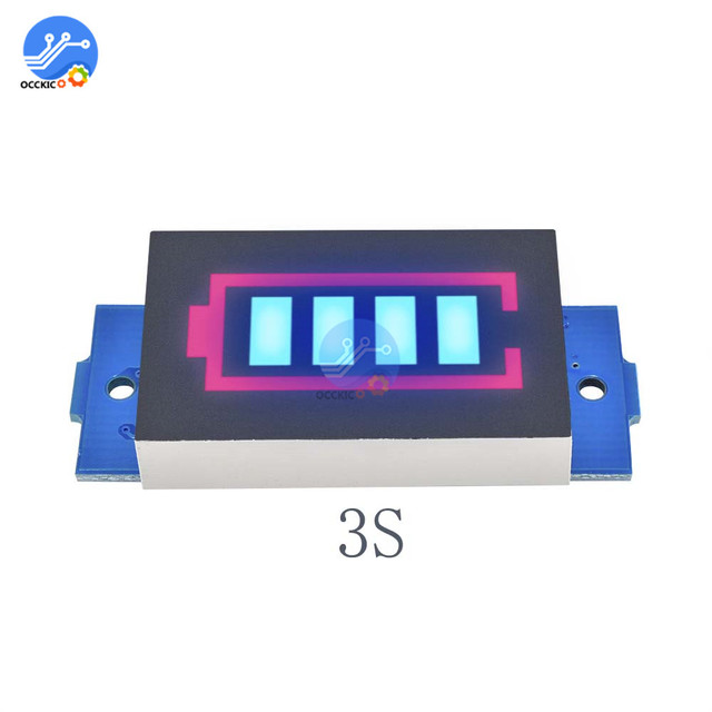 BMS 1S 2S 3S 4S 6S 7S 18650 Li-po Lithium Battery Capacity Indicator Module Meter Power Level Display Board Charge Accessory 2