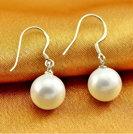 925 silver real natural big Eccentric flaws freshwater pearl earrings earring 925 Tremella hook simple style for her m