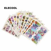 ELECOOL 12 Pcs Cute Cartoon Nail Art Decals Stickers Tips DIY Water Transfer Nail Art Decoration Random Style