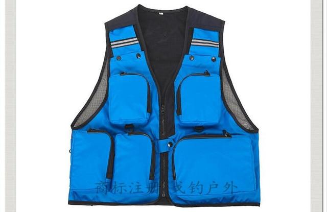 Free shipping,multifunctional brand Black mens vest,multi pocket vest men,reporter jacket vest,