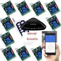 Broadlink RM Pro + 12 приемник, iPhone/Android WI FI + rf, 1 канал 220 В 30A Беспроводной Дистанционное управление переключатель Умный дом Системы