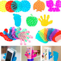 Cute Double Side Suction Magic Sucker For Bathroom Mobile Phone Sticker Stand Holder Vacuum Sucker Free shipping JJ200-202