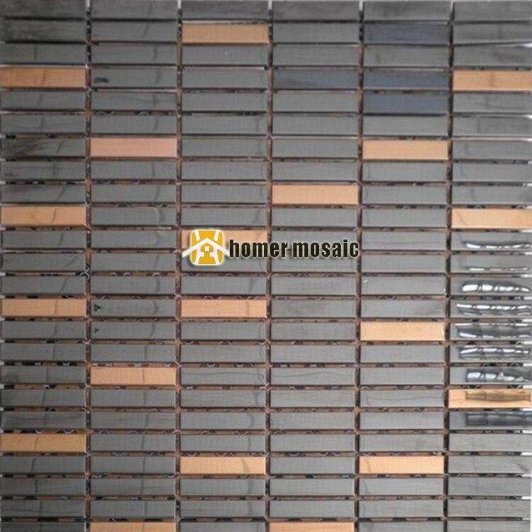 acciaio inox mattonelle di mosaico-acquista a poco prezzo acciaio ... - Piastrelle Cucina Mosaico