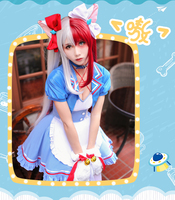 Anime Boku no Hero Academia Anime Cosplay My Hero Academia Todoroki Shoto Cosplay Costume Halloween Maid cafe uniform Costume