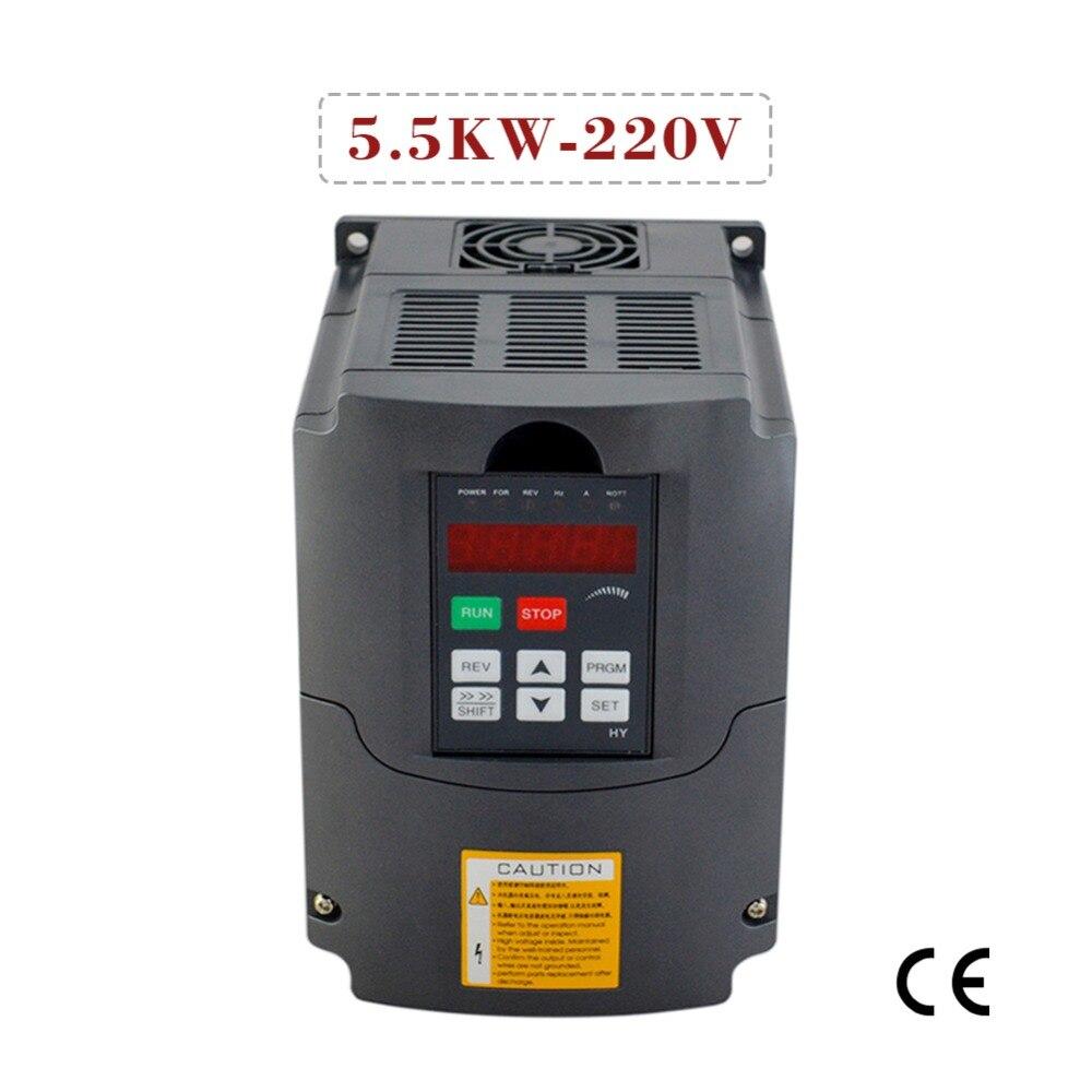 Преобразователь частоты для двигателя 5.5KW 220V инвертор с переменной частотой CE сертификат регулятор скорости двигателя vfd