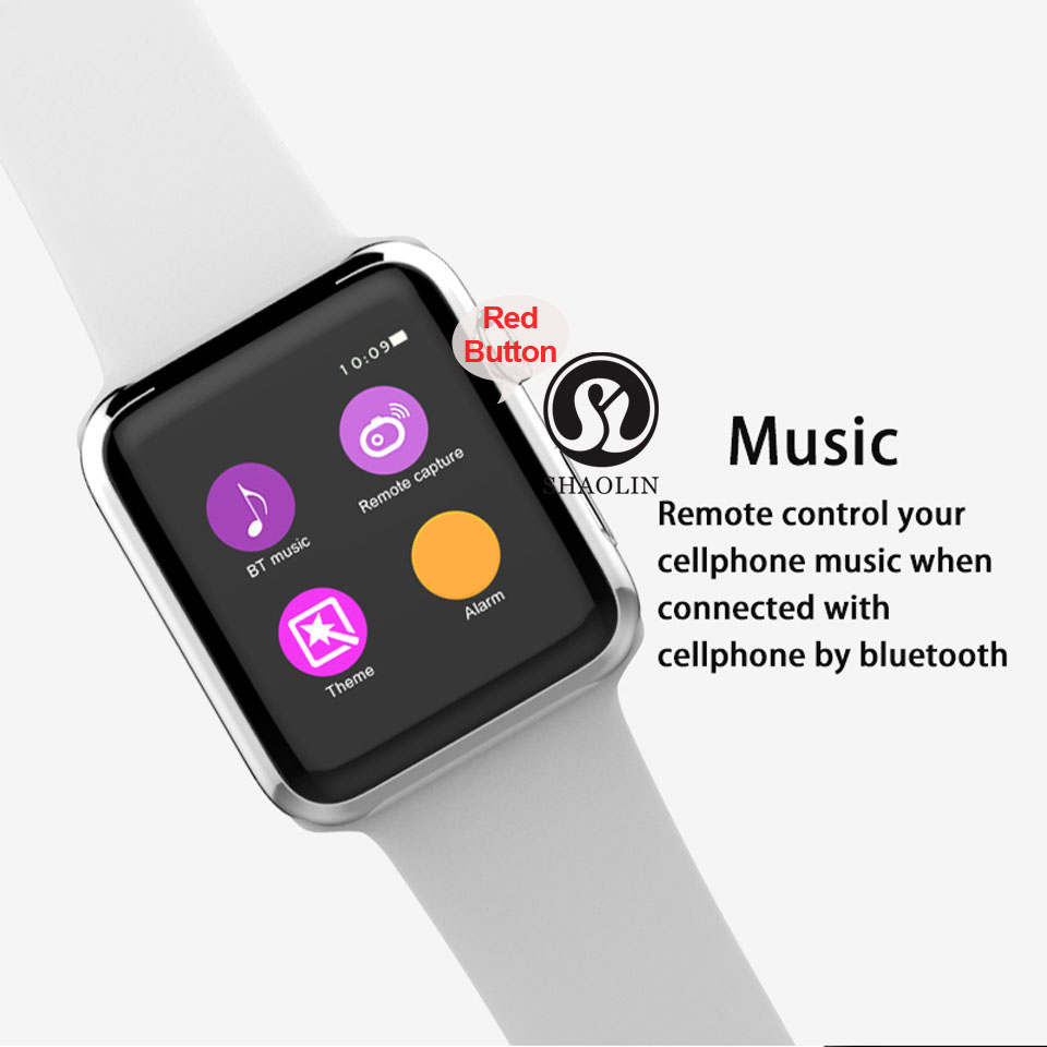 SHAOLIN Bluetooth Smart Watch Heart Rate Monitor Smartwatch Wearable Devices for iPhone IOS and Android Smartphones apple watch-13