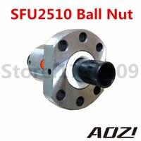 ใหม่RM2510 SFU2510บอลสกรูน็อต25มิลลิเมตรบอลสกรูหุบเขาอ่อนนุชการแข่งขันการใช้2510วง