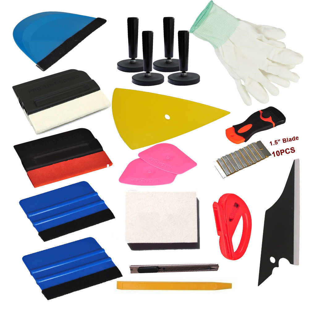 Car Wrap Vinyl Tools Kit Squeegee Scraper Tool Bag Economy Combo Wrapping Decals