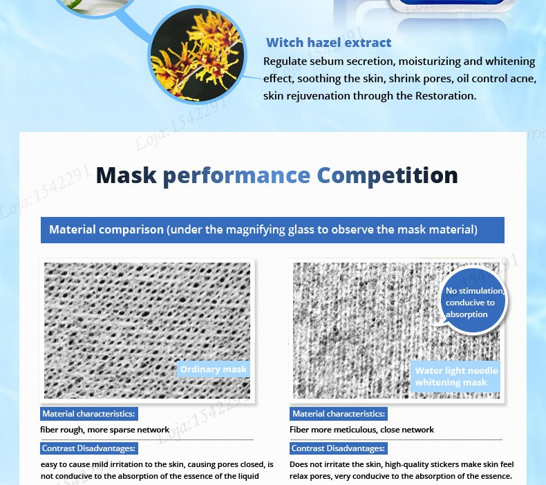 Hyaluronic acid natural silk moisturizing facial masks woman cleansing purifying pores acne whitening face skin care beauty mask 19