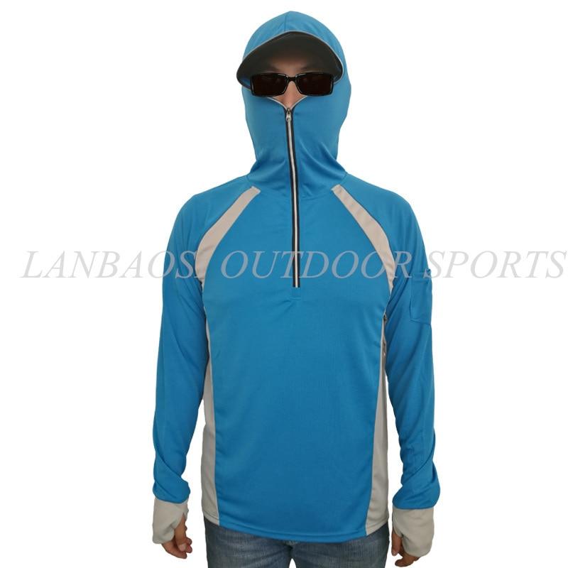 LANBAOSI 자외선 차단 남성용 낚시 의류 빠른 건조 - 스포츠웨어 및 액세서리