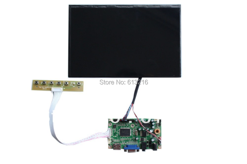 HDMI+ VGA +Audio LCD main board +10.1 inch LCD panel N101ICG-L21 1280*800 +LVDS cable+OSD keypad with cable