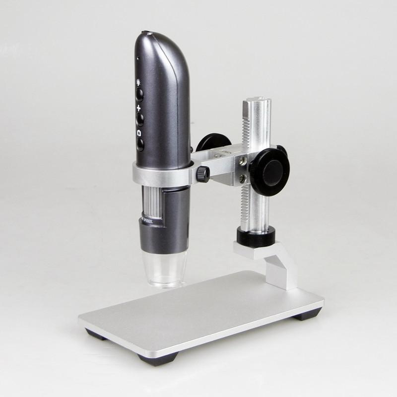 WIFI Mobile Phone Microscope 200X 500X 800X 1000X Digital USB IOS Android Photo Video HD wifi Magnifier Camera Al-alloy Stent цена
