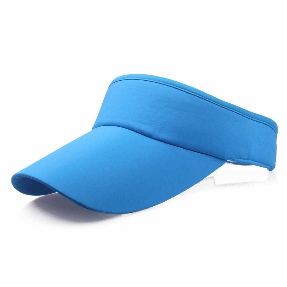 男性女性の太陽の帽子スポーツヘッドバンドキャップ太陽バイザーカジュアル夏通気性トップレスバイザー浜調節可能な帽子
