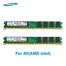 JINMEIQI DDR2 4GB(2pcsX2GB) PC2-6400 800MHZ 533/667MHZ For Desktop DIMM Memory RAM 240pin 1.8V new 10x1gb pc2 5300 ddr2 667 667mhz 240pin dimm laptop memory pc5300 667mhz ddr2 low density ram free shipping