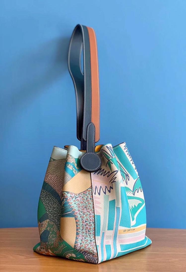 최고의 품질 숙녀 럭셔리 패션 숄더 가방 품질 클래식 100% 가죽 브랜드 유명 숙녀 양동이 가방 전체 매뉴얼-에서숄더 백부터 수화물 & 가방 의  그룹 1