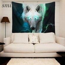 Smiry 3d принт лес волк узор полиэстер гобелен размер 130×150 см пляжное одеяло разделитель комнаты Йога пляжный модный гобелен