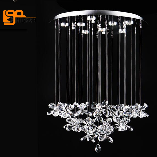 belle conception moderne cristal lampe lustre lustre salon salle manger luminaires