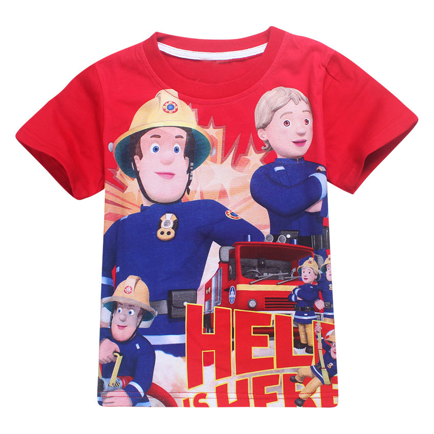 Z&Y 3-9Years Bobo Choses 2017 Summer Tshirt Fireman Sam Clothes Boys T-shirt Jeresy Kids Tee Shirt Top Model Nununu Teen Clothes