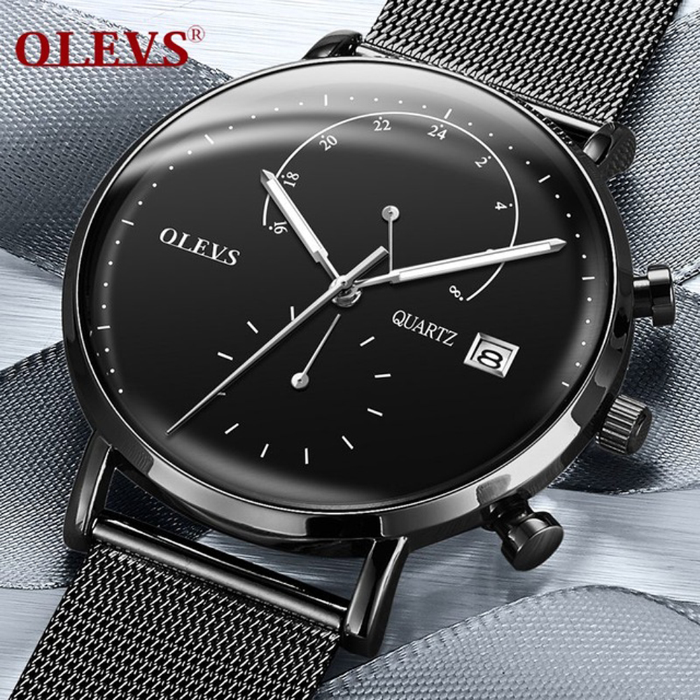Mens Watches OLEVS Top Brand Luxury Waterproof Ultra Thin Date Clock Male Steel Strap Casual Quartz Watch Men Sports Wrist WatchMens Watches OLEVS Top Brand Luxury Waterproof Ultra Thin Date Clock Male Steel Strap Casual Quartz Watch Men Sports Wrist Watch