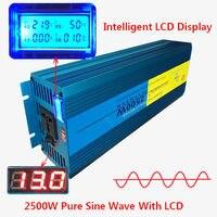 Digital Display 2500W 5000W Peak Pure Sine Wave Power Inverter DC 12V to AC 220V 230V 240V Converter Supply Solar Power
