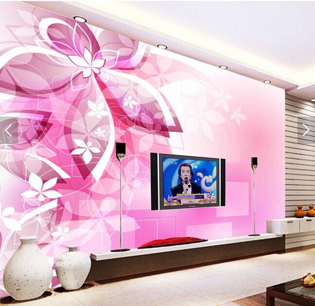 ⊰Custom 3D modern wallpaper, fantasy flowers murals for the living ...