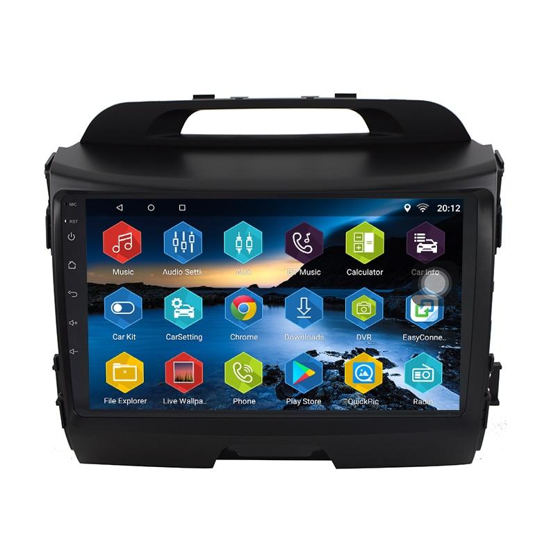 Android 7.0.0 Navigation de voiture pour KIA sportage r 2011 2012 2013 2014 2015 2 Din 1024*600 autoradio GPS vidéo Canbus en option