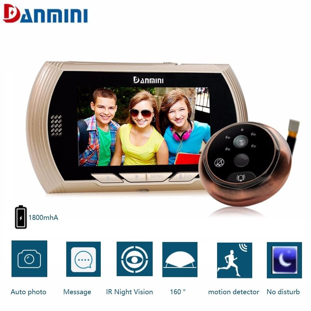 4,3 zoll Led-bildschirm Video Intercom Türklingel 3MP pixel Nachtsicht Motion Detection Kamera Kein Stören Katze Auge Guckloch Viewer