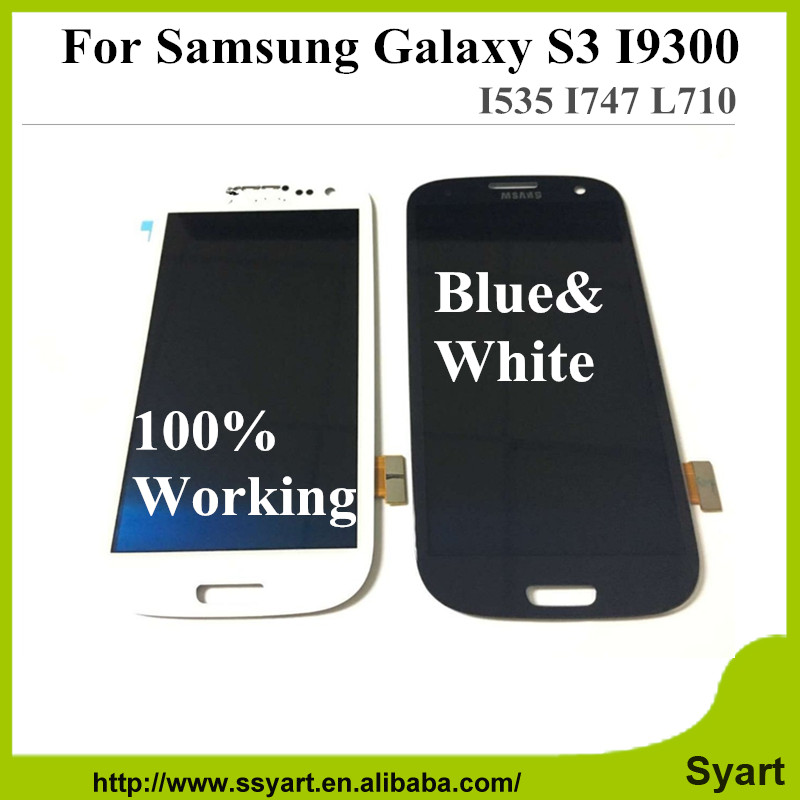 ФОТО 20PCS LCD Display For samsung S3 Touch Screen Digitizer Assembly For Samsung Galaxy S3 III i9300 20PCS Free DHL