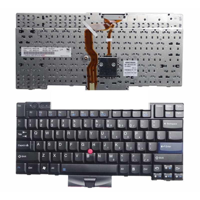 NEW laptop keyboard FOR LENOVO FOR Thinkpad T410 T420 X220 T510 T510i T520 T520i W510 W520 Series Laptop Keyboard US Layout new english laptop keyboard for thinkpad e531 l540 e540 w540 w541 t550 t540p us keyboard replacement fru 01ax160