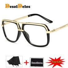 DesolDelos 2019 Popular Oversize Women Square glasses Brand Designer Fashion Men Transparent Frame Clear Lens Glasses