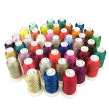 84 полиэфирная нить для вышивки 1000 м нити нитки бечевка высокопрочный блеск для шитья оверлока дома машины TH52