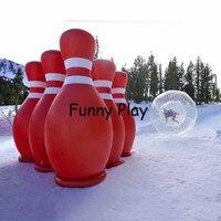 1 шт 3*2 м надувной рекламный шар для боулинга с 6 шт 2 м человеческих кегли надувная Бутылка Для Боулинга Шар для хомяка