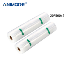 ANIMORE Vacuum Packaging Rolls 20×500 Vacuum Heat Sealer Food Saver Bags Food Storage Bags 2 Rolls Food Storage Bags FB-04