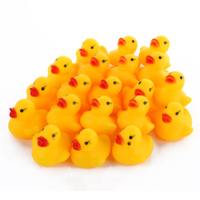 10pcs/lot 3.5*3.8cm Small Baby Kids Rubber Ducks Bath Toys Bathe Room Water Fun Game Playing Newborn Boy Girl Toys for Children