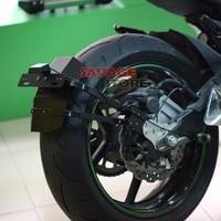 For KAWASAKI Z800 2013 2014 2015 2016 Motorcycle CNC Aluminum Mudguard Rear Fender Bracket License Plate Holder Light