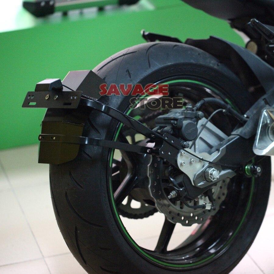 Pour KAWASAKI Z800 2013 2014 2015 2016 Moto CNC En Aluminium Garde-Boue Garde-Boue Arrière Support de Support De Plaque D'immatriculation Lumière