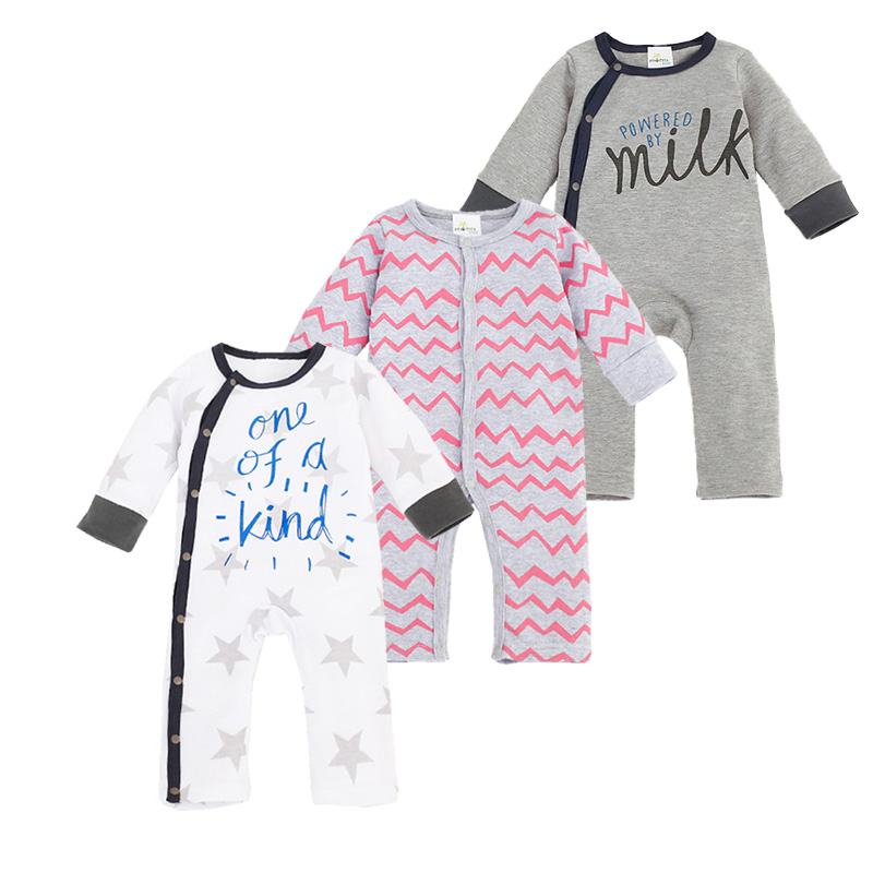 New Born Baby Stripe Romper Unisex Baby Clothes Spring Autumn Long Sleeve Jumpsuit Newborn One-pieces Letter Print Baby Clothing unisex winter baby clothes long sleeve hooded baby romper one piece covered button infant baby jumpsuit newborn romper for baby